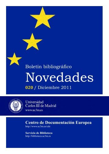 Centro de Documentación Europea diciembre 2011 - Universidad ...