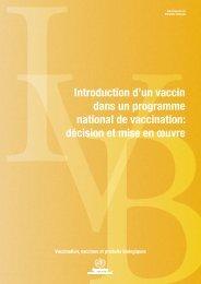 VBIntroduction d'un vaccin dans un programme national de ...