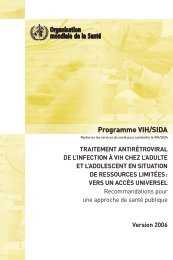 Programme VIH/SIDA - World Health Organization