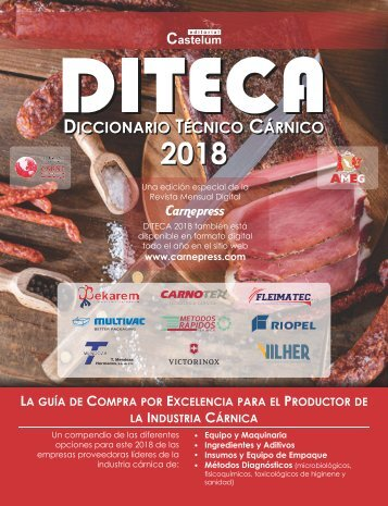 DICCIONARIO TÉCNICO CÁRNICO 2018 - DITECA