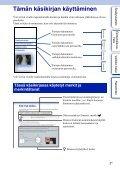 Sony NEX-5D - NEX-5D Guide pratique Finlandais - Page 2
