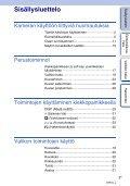 Sony NEX-5D - NEX-5D Guide pratique Finlandais - Page 3