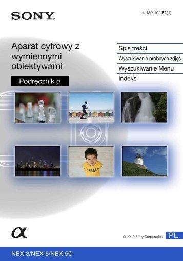 Sony NEX-5D - NEX-5D Guide pratique Polonais