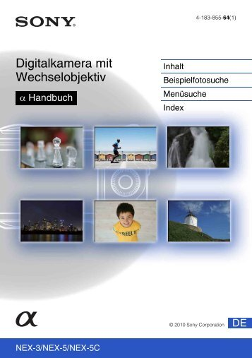 Sony NEX-5D - NEX-5D Guide pratique Allemand