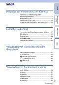 Sony NEX-5D - NEX-5D Guide pratique Allemand - Page 3