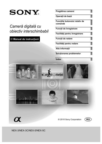 Sony NEX-5D - NEX-5D Mode d'emploi Roumain