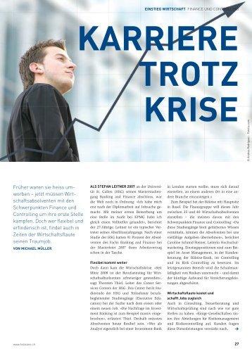 berufsbilder in finance und controlling - Hobsons Schweiz