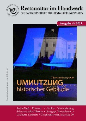 Restaurator im Handwerk – Ausgabe 4/2011 - Kramp & Kramp