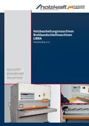 Holzbearbeitungsmaschinen Breitbandschleifmaschinen LIBRA