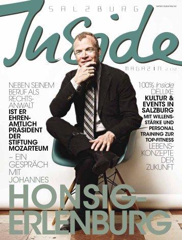 – EIN GEspräch mIt JOHANNES - Salzburg Inside - Das Magazin