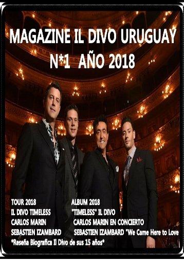 Magazine Il Divo Uruguay N.1 año 2018