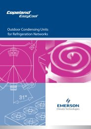 Outdoor Condensing Units for Refrigeration Networks - Emerson ...