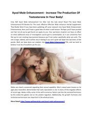 Xyzol Male Enhancement - Boost Sexual Capacity & Performance Easily!