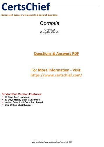 CV0-002 Free PDF Demo 2018