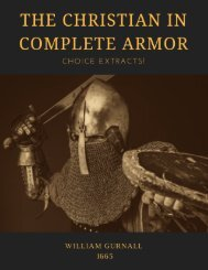 The Christian in Complete Armor - Choice Extracts!
