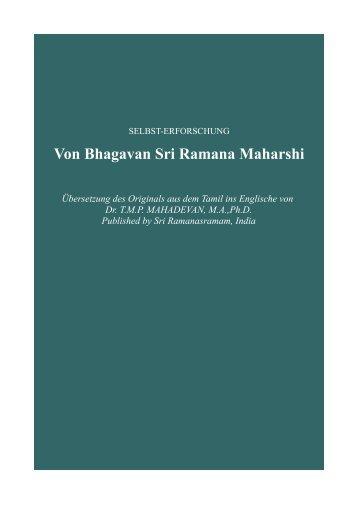 Ramana Maharshi Selbsterforschung