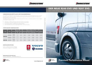 Premium Performance Ahead - Bridgestone DEUTSCHLAND