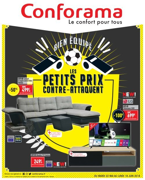 Conforama catalogue 22 mai-18 juin 2018