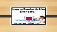 How to Fix McAfee Error 2402 Call 1-800-583-7461 Toll-Free