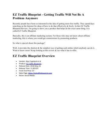 EZ Traffic Blueprint Review
