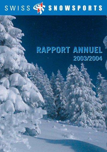 RAPPORT ANNUEL - Swiss Snowsports