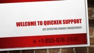 Welcome to Quicken Support