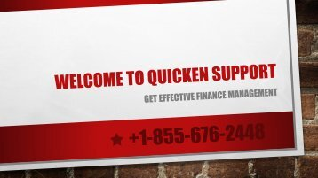 Solve Quicken Problems |Quicken Support