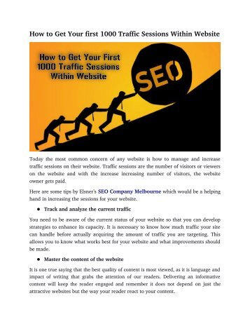 How to Get Your first 1000 Traffic Sessions Within Website