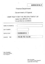 Senior Clerk (ST-Backlog) - Finance Department - Government of ...