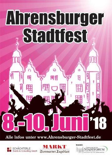 Programmflyer Ahrensburger Stadtfest 2018