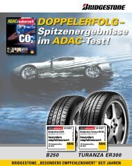 BESONDERS EMPFEHLENSWERT - Bridgestone DEUTSCHLAND