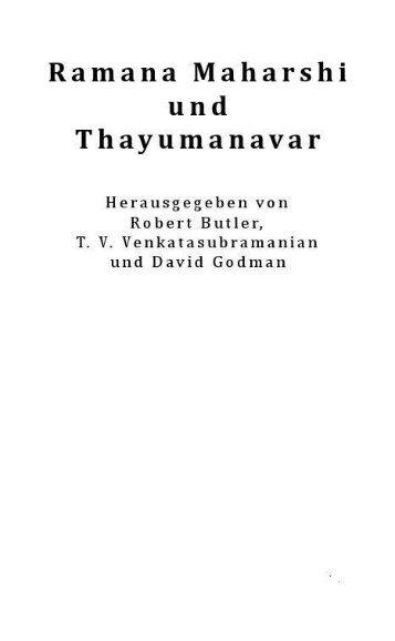 Ramana Maharshi und Thayumanavar