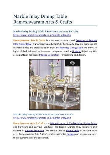 Marble Inlay Dining Table Rameshwaram Arts & Crafts