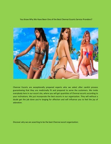 You Know Why We Have Been One of the Best Chennai Escorts Service Providers.docx