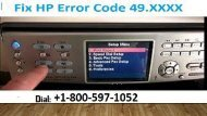 Call +1800-597-1052 How to Fix HP Error Code 49.XXXX