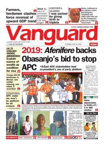 22052018 - 2019: Afenifere backs Obasanjo's bid to stop APC
