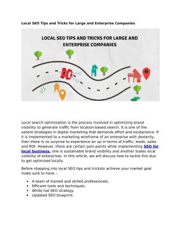Local SEO Tips and Tricks for Large and Enterprise Companies
