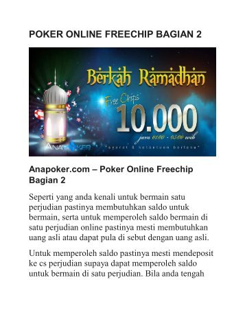 POKER ONLINE FREECHIP BAGIAN 2