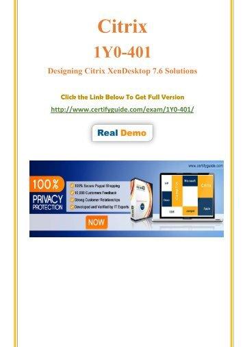 1Y0-401 Free Demo Practice Test Software 2018