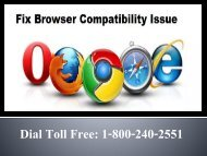 How to Fix Browser Compatibility Issue 1-800-240-2551 Toll Free
