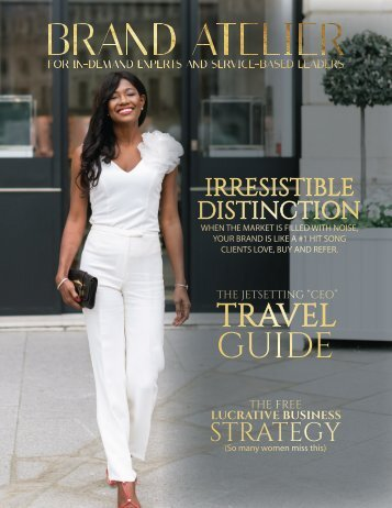 BRAND ATELIER The Jetsetting CEO Issue