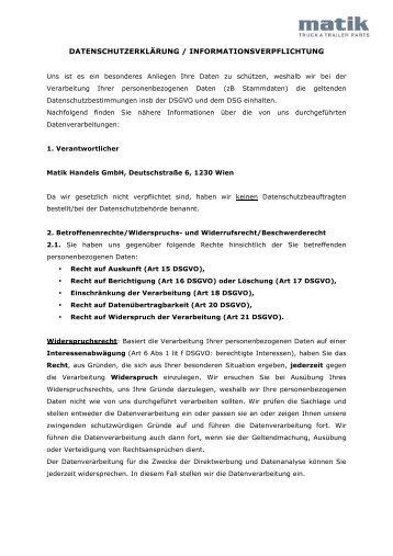 IVa_ Datenschutzerklärung_Website_MATIK