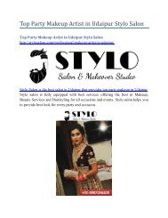 Top Party Makeup Artist in Udaipur Stylo Salon