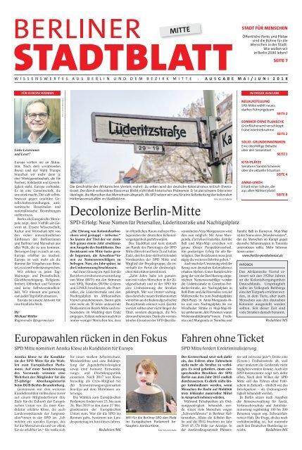 Berliner Stadtblatt Mitte Ausgabe Mai 2018