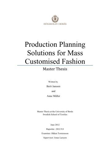 Planning master thesis