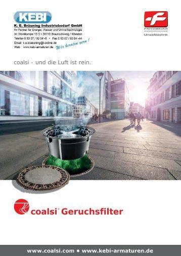 KEBI Coalsi Geruchsfilter und Femdwasserverschlüsse