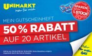 Unimarkt Flugblatt Gutscheinheft 06.06.-19.06.2018