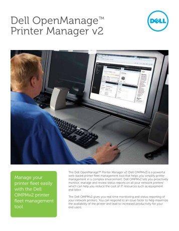 Dell OpenManage™ Printer Manager v2