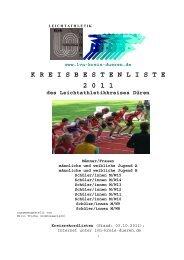 KREISBESTENLISTE 2011 mit Senioren - Dürener Turnverein 1847 ...
