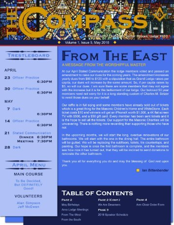 The Compass, Volume 1, Issue 5, May 2018